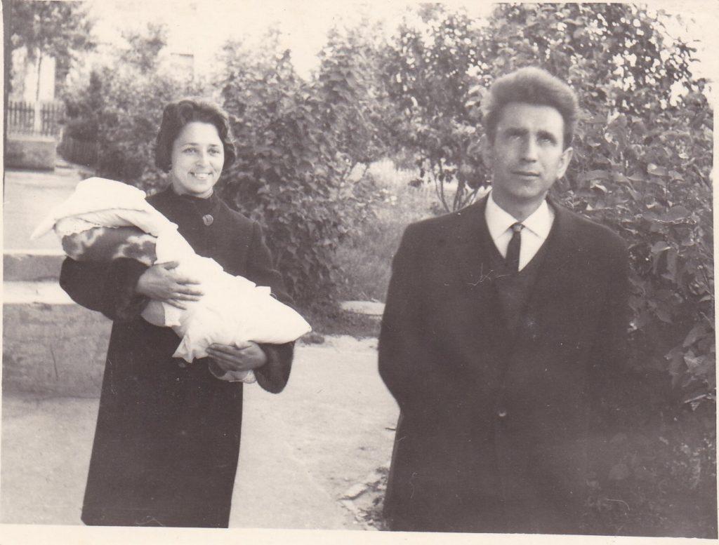 С мужем и сыном